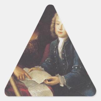 Jean Philippe Baratier dargestellt von Minerva Dreiecks-Aufkleber