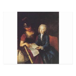 Jean Philippe Baratier dargestellt von Minerva Postkarte