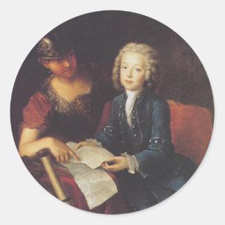 Jean Philippe Baratier dargestellt von Minerva Runder Aufkleber