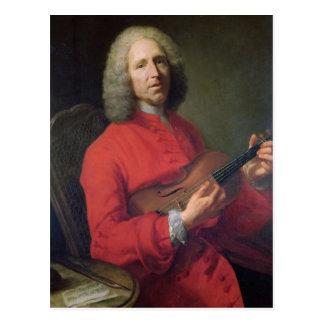 Jean-Philippe Rameau mit einer Violine Postkarte