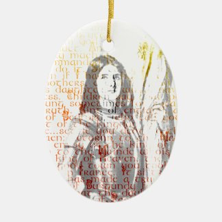 Jeanne d'Arc Ovales Keramik Ornament