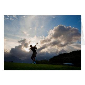 Jeder Anlass für Mann-Golf Karte