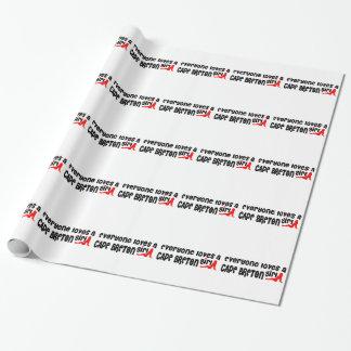 Jeder Lieben ein Kap-Bretone Geschenkpapier