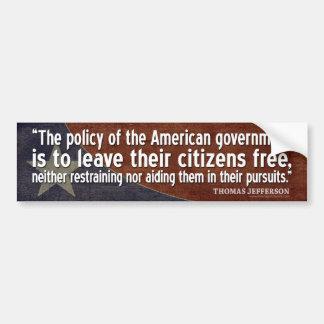 Jefferson-Zitat: Die Politik der amerikanischen Autoaufkleber
