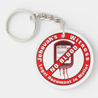 Jehovahs Zeuge - kein Blut Schlüsselanhänger
