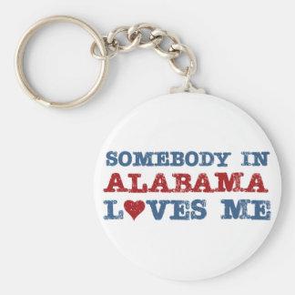 Jemand in Alabama-Lieben ich Standard Runder Schlüsselanhänger