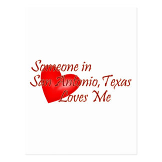 Jemand in Lieben San Antonio Texas ich Postkarte