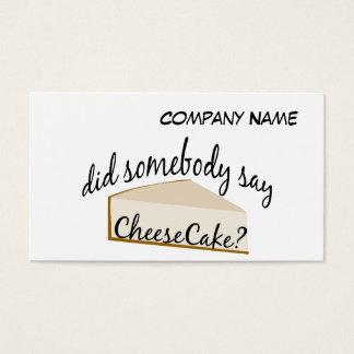 Jemand sagen Käsekuchen? Visitenkarte