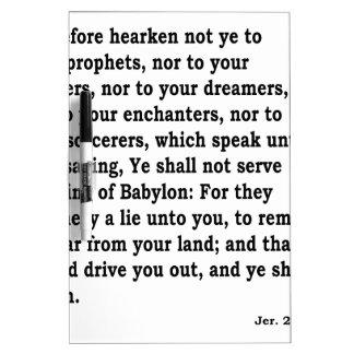 Jer. 27:9 - 10 trockenlöschtafel