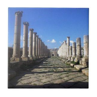 Jerash römische Straße Keramikfliese