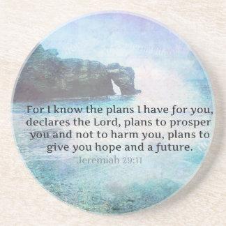 Jeremias-29:11 Bibel-Vers-Strandozeanwellen Getränkeuntersetzer