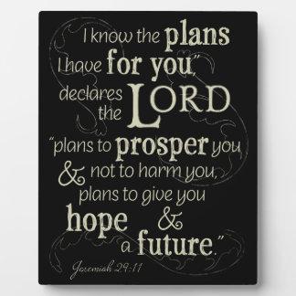 Jeremias-29:11 kenne ich die Pläne, die ich für Fotoplatte