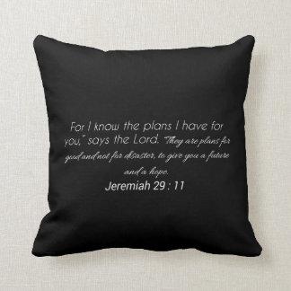 Jeremias-29:11 Schrifts-Wurfs-Kissen Kissen
