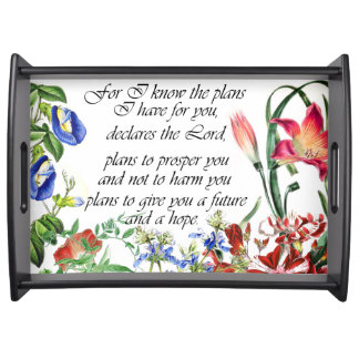 Jeremias-Bibel-Vers-Garten-Blumen-Blumenbehälter Tablett