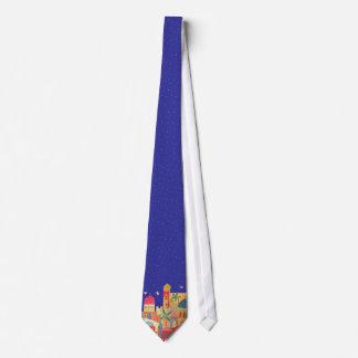 Jerusalem-Stadt-bunte Kunst Personalisierte Krawatten