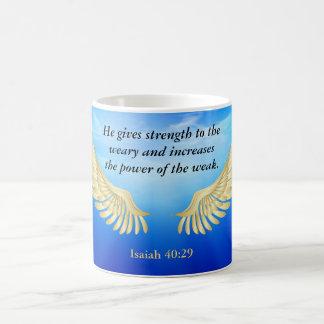 Jesaja-40:29 Tasse