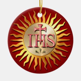 Jesuit-Siegel Rundes Keramik Ornament
