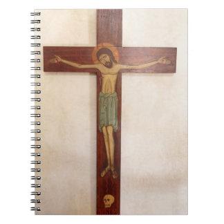 Jesus auf der Querkunst Spiral Notizblock