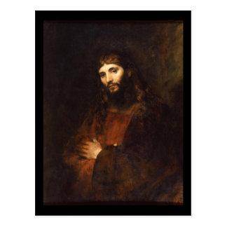 Jesus Christus mit den Armen gekreuzt Postkarte