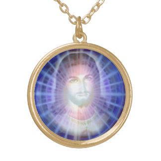 Jesus Halskette Mit Rundem Anhänger