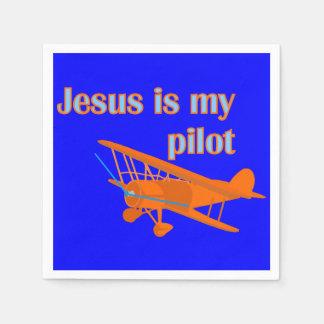 Jesus ist mein Pilot Papierservietten