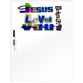 Jesus-Lieben Sie Trocken-Löschen Brett Trockenlöschtafel