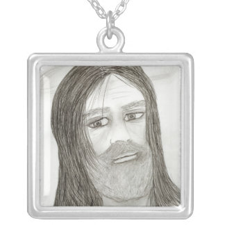 Jesus mit Halo Versilberte Kette
