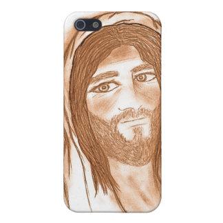 Jesus mit Kreuzen im Hintergrund iPhone 5 Hülle