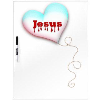 JESUS=MY HERZ Trocken-Löschen Brett Memoboard