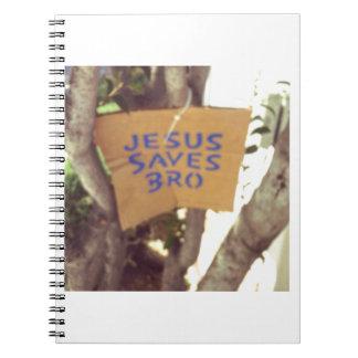 Jesus rettet bro spiral notizblock