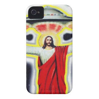 Jesus und ein UFO Case-Mate iPhone 4 Hülle