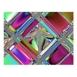 Jewelee glänzende Mosaik-Kunst Postkarte