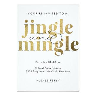 Jingle und vermischen Sie | Feiertags-Party 12,7 X 17,8 Cm Einladungskarte