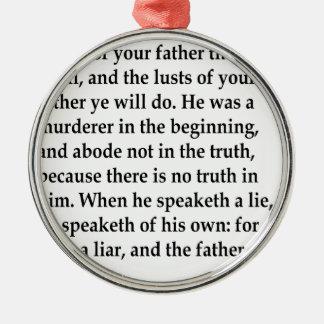 Jn. 8:44, w silbernes ornament