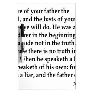 Jn. 8:44, w trockenlöschtafel