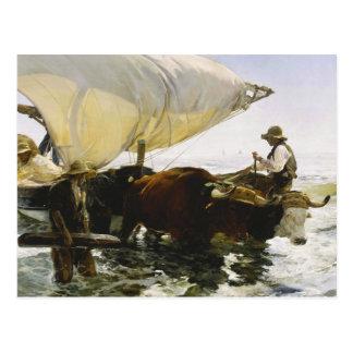 Joaquin Sorolla - die Rückkehr vom Fischen Postkarte