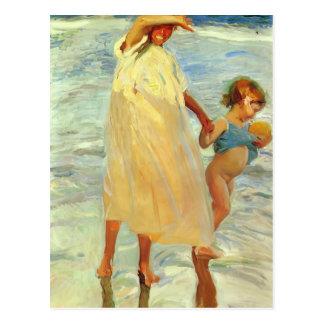 Joaquín Sorolla- die zwei Schwestern Postkarte