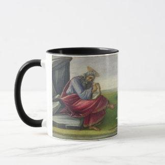 Johannes das göttliche auf Patmos, das Buch Tasse