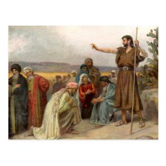 Johannes der Täufer predigt in der Wüste Postkarte