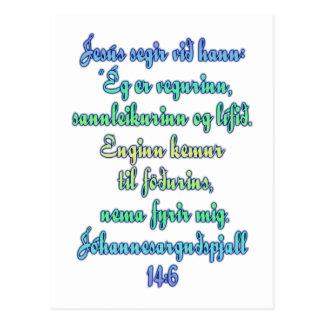 John-14:6 Isländer Postkarte