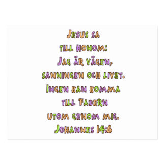 John-14:6 Schwede Postkarte