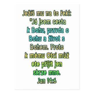 John-14:6 Tscheche Postkarte