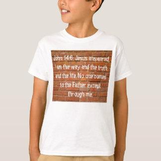 John 14; 6 Ziegelstein-Wand-KinderT - Shirt