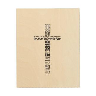 John-3:16 Wand-Kunst Holzleinwand