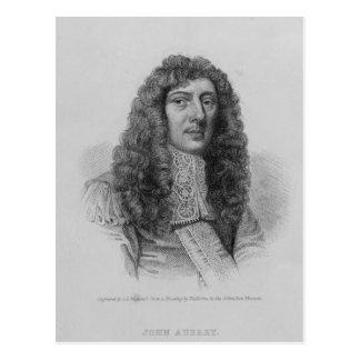 John Aubrey, graviert von Charles Eden Wagstaff Postkarte