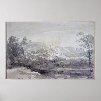 John Constable | eine Ansicht in Derbyshire Poster