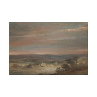 John Constable - eine Ansicht über Hampstead Heide Leinwanddruck
