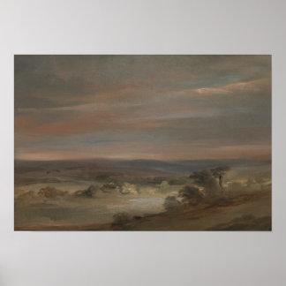 John Constable - eine Ansicht über Hampstead Heide Poster