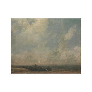 John Constable - eine Ansicht von Hampstead Heide Leinwanddruck