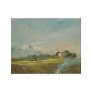 John Constable - Hampstead Heide, mit einem Feuer Leinwanddruck
